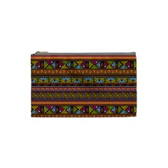 Traditional Africa Border Wallpaper Pattern Colored 2 Cosmetic Bag (small) by EDDArt