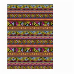 Traditional Africa Border Wallpaper Pattern Colored 2 Large Garden Flag (two Sides) by EDDArt