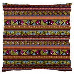 Traditional Africa Border Wallpaper Pattern Colored 2 Large Cushion Case (one Side) by EDDArt