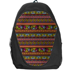 Traditional Africa Border Wallpaper Pattern Colored 2 Backpack Bag by EDDArt