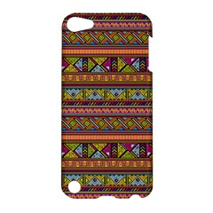 Traditional Africa Border Wallpaper Pattern Colored 2 Apple Ipod Touch 5 Hardshell Case by EDDArt