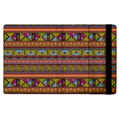 Traditional Africa Border Wallpaper Pattern Colored 2 Apple Ipad 3/4 Flip Case by EDDArt
