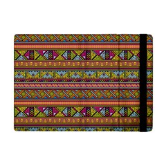 Traditional Africa Border Wallpaper Pattern Colored 2 Apple Ipad Mini Flip Case by EDDArt