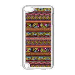 Traditional Africa Border Wallpaper Pattern Colored 2 Apple Ipod Touch 5 Case (white) by EDDArt