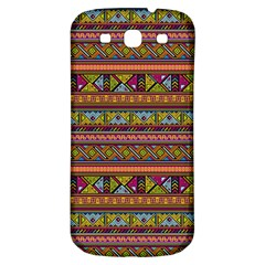 Traditional Africa Border Wallpaper Pattern Colored 2 Samsung Galaxy S3 S Iii Classic Hardshell Back Case by EDDArt