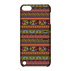 Traditional Africa Border Wallpaper Pattern Colored 2 Apple Ipod Touch 5 Hardshell Case With Stand by EDDArt