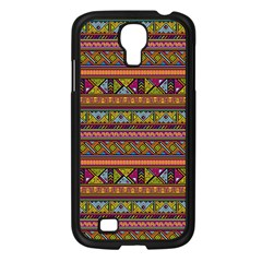Traditional Africa Border Wallpaper Pattern Colored 2 Samsung Galaxy S4 I9500/ I9505 Case (black) by EDDArt