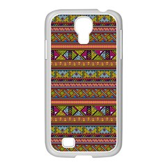 Traditional Africa Border Wallpaper Pattern Colored 2 Samsung Galaxy S4 I9500/ I9505 Case (white) by EDDArt