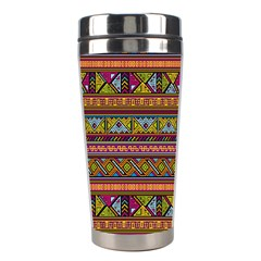 Traditional Africa Border Wallpaper Pattern Colored 2 Stainless Steel Travel Tumblers by EDDArt