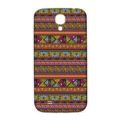 Traditional Africa Border Wallpaper Pattern Colored 2 Samsung Galaxy S4 I9500/i9505  Hardshell Back Case by EDDArt