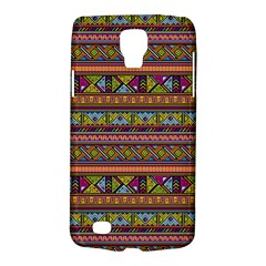 Traditional Africa Border Wallpaper Pattern Colored 2 Samsung Galaxy S4 Active (i9295) Hardshell Case by EDDArt