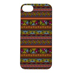 Traditional Africa Border Wallpaper Pattern Colored 2 Apple Iphone 5s/ Se Hardshell Case by EDDArt