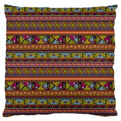 Traditional Africa Border Wallpaper Pattern Colored 2 Large Flano Cushion Case (two Sides) by EDDArt