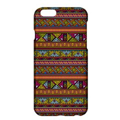 Traditional Africa Border Wallpaper Pattern Colored 2 Apple Iphone 6 Plus/6s Plus Hardshell Case by EDDArt