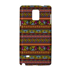 Traditional Africa Border Wallpaper Pattern Colored 2 Samsung Galaxy Note 4 Hardshell Case by EDDArt