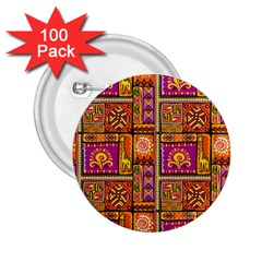 Traditional Africa Border Wallpaper Pattern Colored 3 2 25  Buttons (100 Pack)