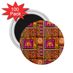 Traditional Africa Border Wallpaper Pattern Colored 3 2 25  Magnets (100 Pack)
