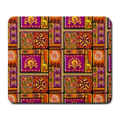 Traditional Africa Border Wallpaper Pattern Colored 3 Large Mousepads