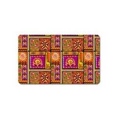 Traditional Africa Border Wallpaper Pattern Colored 3 Magnet (name Card)