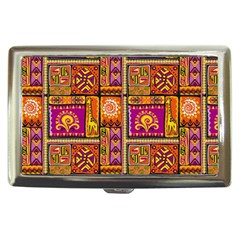 Traditional Africa Border Wallpaper Pattern Colored 3 Cigarette Money Cases