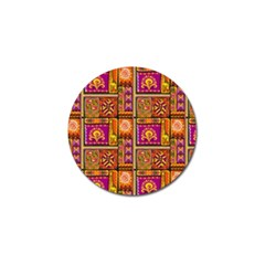 Traditional Africa Border Wallpaper Pattern Colored 3 Golf Ball Marker