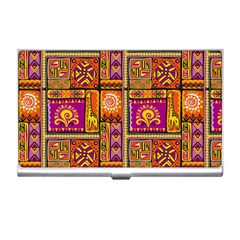 Traditional Africa Border Wallpaper Pattern Colored 3 Business Card Holders