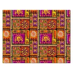 Traditional Africa Border Wallpaper Pattern Colored 3 Rectangular Jigsaw Puzzl