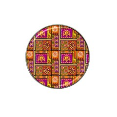 Traditional Africa Border Wallpaper Pattern Colored 3 Hat Clip Ball Marker (10 Pack)