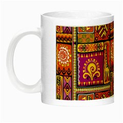 Traditional Africa Border Wallpaper Pattern Colored 3 Night Luminous Mugs