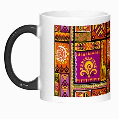 Traditional Africa Border Wallpaper Pattern Colored 3 Morph Mugs