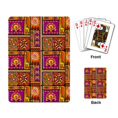 Traditional Africa Border Wallpaper Pattern Colored 3 Playing Card