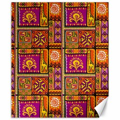 Traditional Africa Border Wallpaper Pattern Colored 3 Canvas 8  X 10