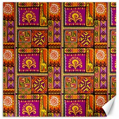 Traditional Africa Border Wallpaper Pattern Colored 3 Canvas 12  X 12