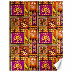 Traditional Africa Border Wallpaper Pattern Colored 3 Canvas 12  X 16