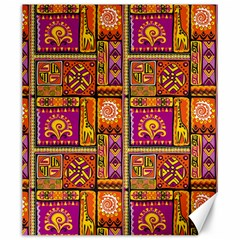 Traditional Africa Border Wallpaper Pattern Colored 3 Canvas 20  X 24
