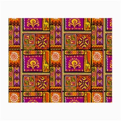 Traditional Africa Border Wallpaper Pattern Colored 3 Small Glasses Cloth (2 Side)