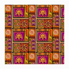 Traditional Africa Border Wallpaper Pattern Colored 3 Medium Glasses Cloth (2 Side)