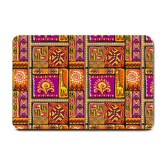 Traditional Africa Border Wallpaper Pattern Colored 3 Small Doormat