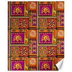 Traditional Africa Border Wallpaper Pattern Colored 3 Canvas 11  X 14
