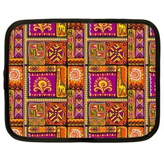Traditional Africa Border Wallpaper Pattern Colored 3 Netbook Case (large)
