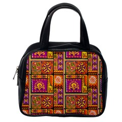 Traditional Africa Border Wallpaper Pattern Colored 3 Classic Handbags (one Side)