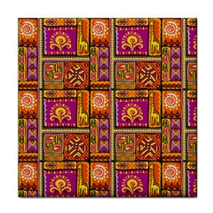 Traditional Africa Border Wallpaper Pattern Colored 3 Face Towel