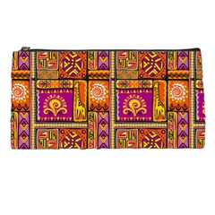 Traditional Africa Border Wallpaper Pattern Colored 3 Pencil Cases