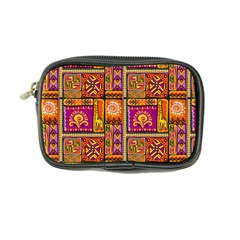Traditional Africa Border Wallpaper Pattern Colored 3 Coin Purse