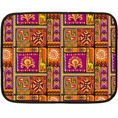 Traditional Africa Border Wallpaper Pattern Colored 3 Double Sided Fleece Blanket (mini)  by EDDArt