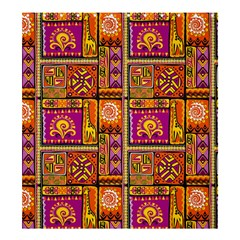 Traditional Africa Border Wallpaper Pattern Colored 3 Shower Curtain 66  X 72  (large)