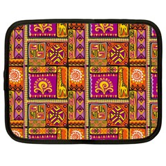 Traditional Africa Border Wallpaper Pattern Colored 3 Netbook Case (xl)
