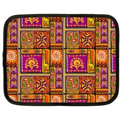 Traditional Africa Border Wallpaper Pattern Colored 3 Netbook Case (xxl)