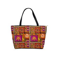 Traditional Africa Border Wallpaper Pattern Colored 3 Shoulder Handbags