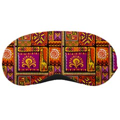 Traditional Africa Border Wallpaper Pattern Colored 3 Sleeping Masks